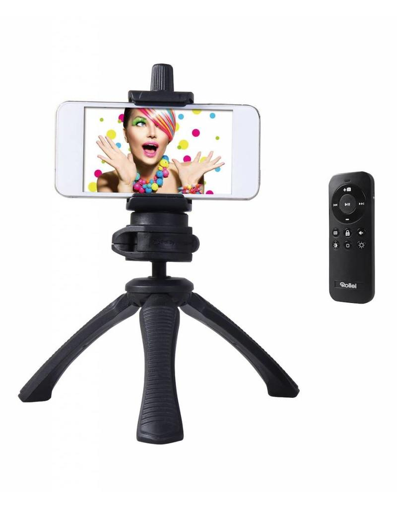 Rollei Rollei Selfie Tripod Set, voor iPhone en Smartphone, met Bluetooth Afstandsbediening