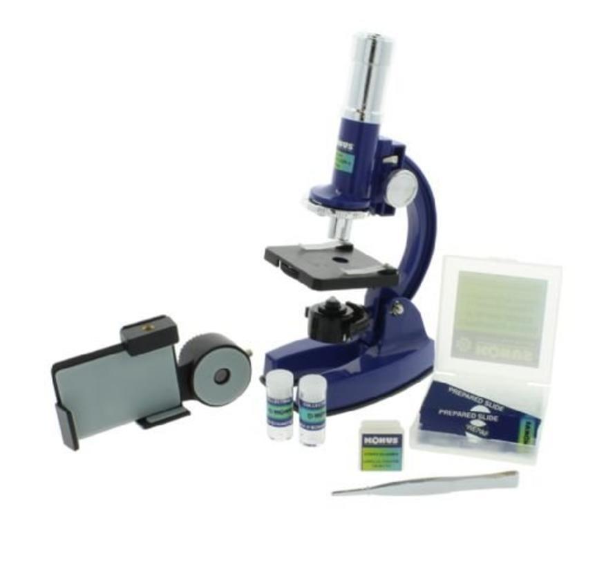 Konus Microscoop Konustudy-4 150x-450x-900x met Smartphone Adapter