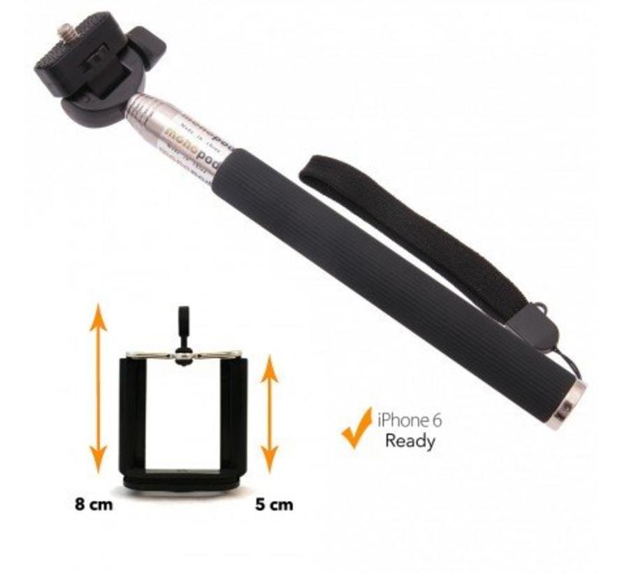Selfie stick met smartphone mount (Black)
