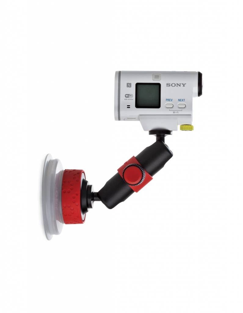 Joby Joby Suction Cup & Locking Arm Black/Red