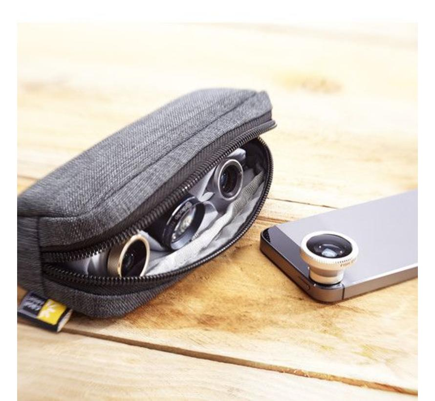 Case Logic Smartphone Lens Case (Grijs/Roze (Chamfer)