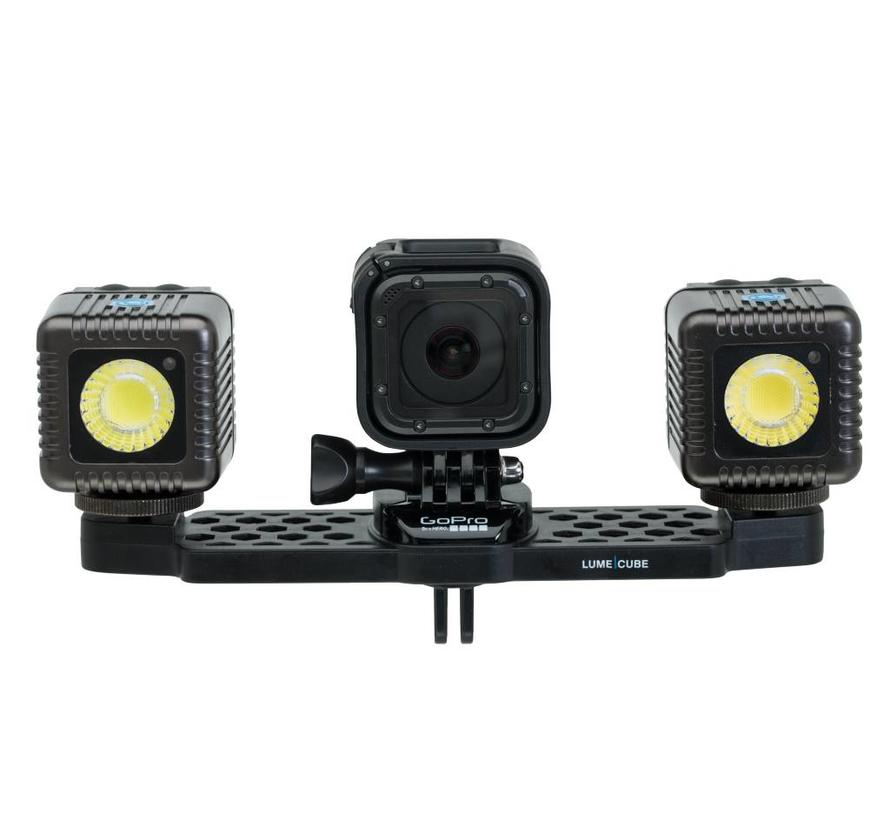 LumeCube Kit GoPro Mounting Bar + 2 Lume Cubes