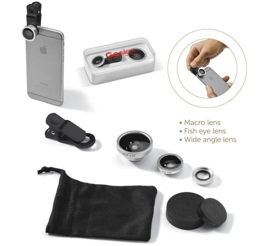 Lensclip 3 in 1 smartphonelens (bedrukt)