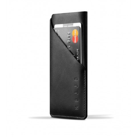 Mujjo Wallet sleeve voor iPhone 7 (leer) Bruin