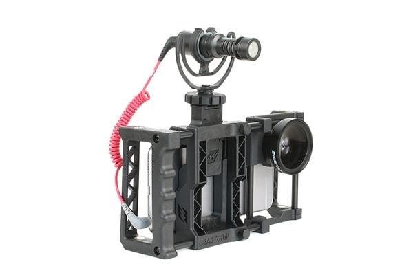Beastgrip pro met Rode Videomicro smartphone microfoon