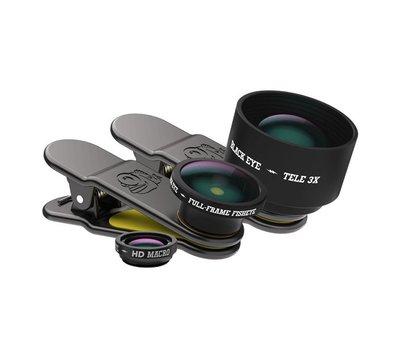 Black Eye lens Black eye Clipper Pro kit lenzen voor je smartphone