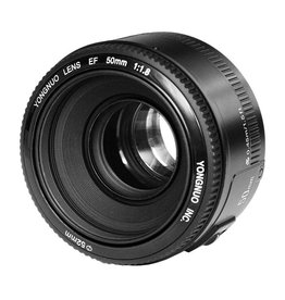Yongnuo 50mm f/1.8 objectief voor Beastgrip