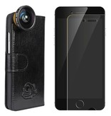 Black Eye lens Black eye lens Flip cover + screenprotector iPhone 5/5s/SE bundel