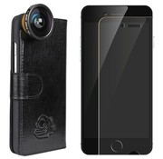 Black Eye lens Flip cover + screenprotector iPhone 5/5s/SE bundel