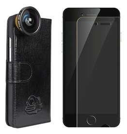 Black Eye lens Flip cover + screenprotector iPhone 6 / 6s bundel