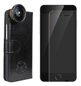 BlackEye lens Flip cover + screenprotector iPhone 6/6s bundel