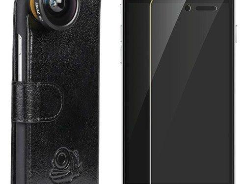 Black Eye lens Flip cover + screenprotector iPhone 6/6s bundel