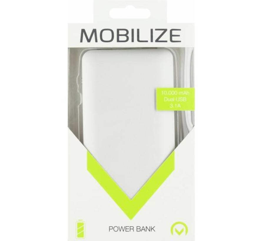 Mobilize Aluminium Slim Power Bank 10000 mAh Silver