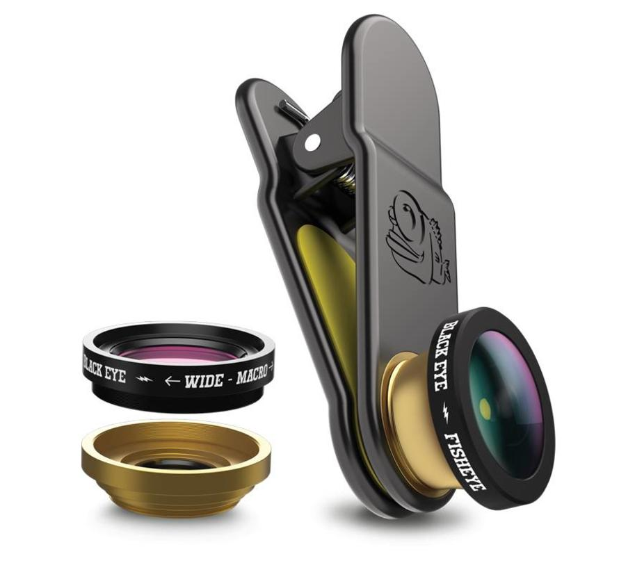 Black eye Clipper Basic 3 in 1 smartphone lens