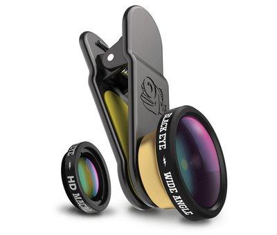 Black Eye lens Blackeye Clipper Combo (Macro & groothoek lens)