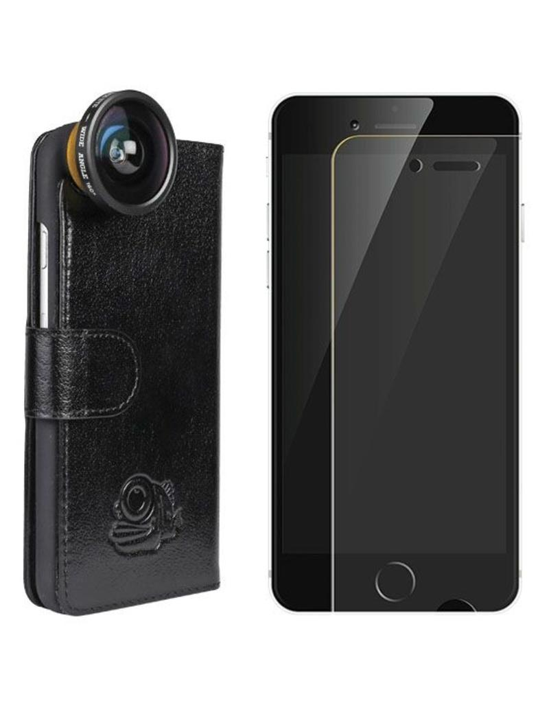 BlackEye lens Lens + Flip cover + screenprotector iPhone 6/6s bundel