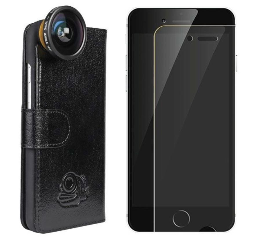 Lens + Flip cover + screenprotector iPhone 6/6s bundel