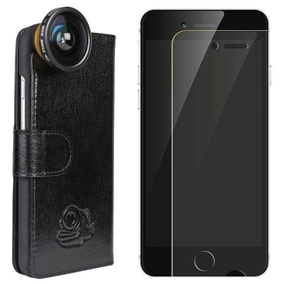 Black Eye lens Lens + Flip cover + screenprotector iPhone 6/6s bundel
