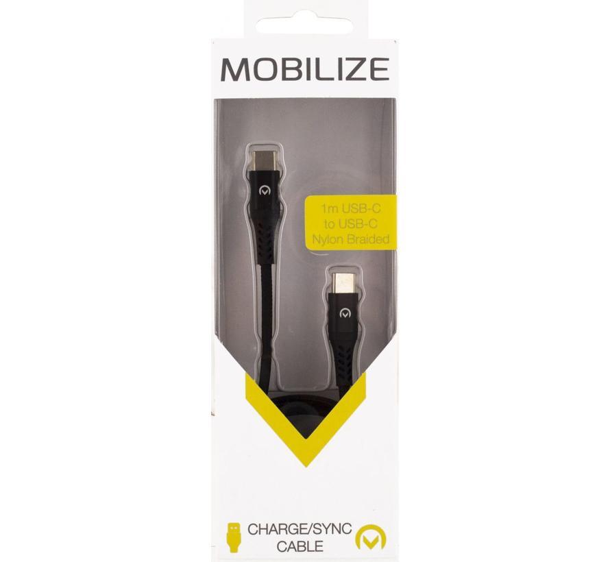Mobilize Nylon Braided USB-C - USB-C  cable