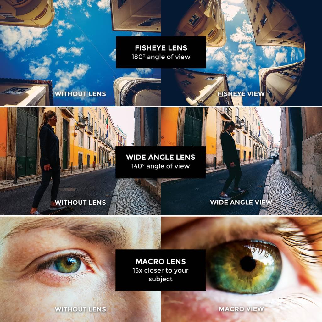 Black Eye lens Black eye Basic 3 in 1 smartphone lens