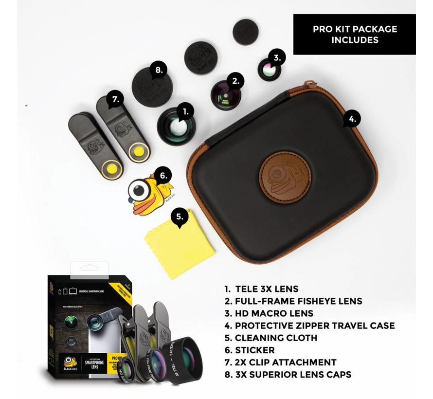 Black eye Clipper Pro kit lenzen voor je smartphone