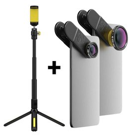 Black Eye lens HD Combo + Filming handle tripod bundle