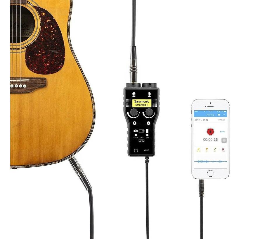 Saramonic SmartRig+ for DSLR en Smartphone