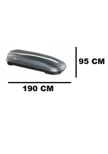 Zomer-/Winterbox FL 580 Liter Grijs metallic 190x95x44cm