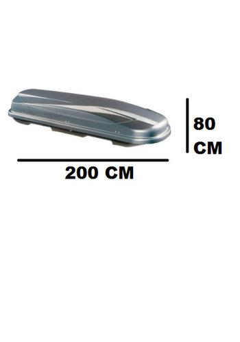 Zomer-/Winterbox Xtreme 450 Liter Dubbelzijdig Grijs metallic 200x80x40cm