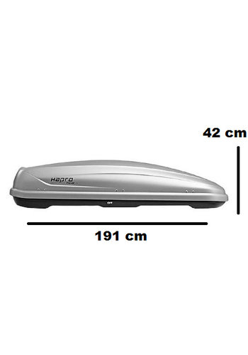Hapro Traxer 6.6 Zilver | 410 Liter