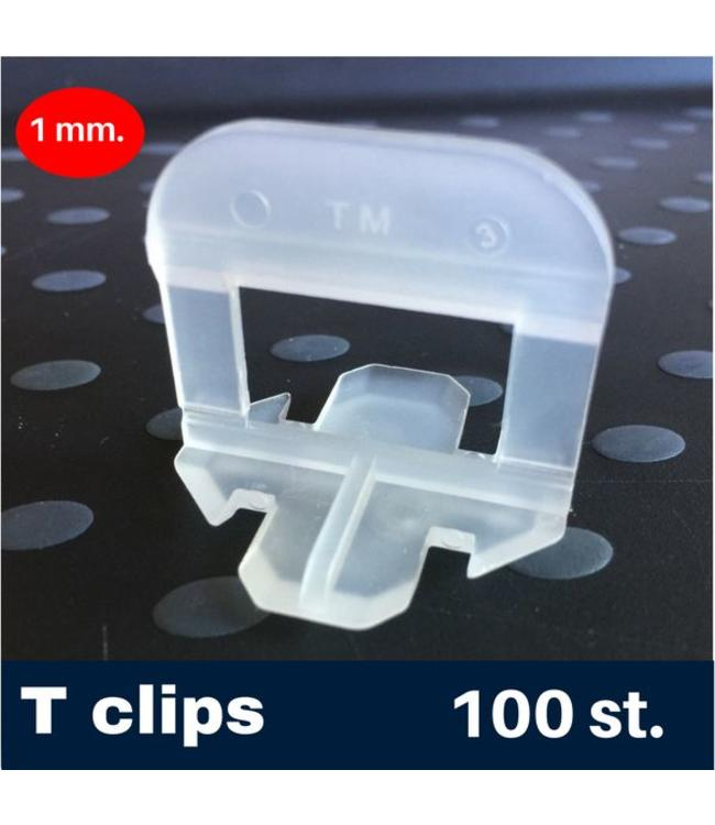 1 mm. -T- Tegel levelling Clips 100 st.