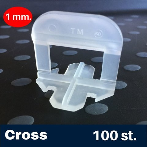 1 mm. Cross Tegel Levelling Clips 100 st.