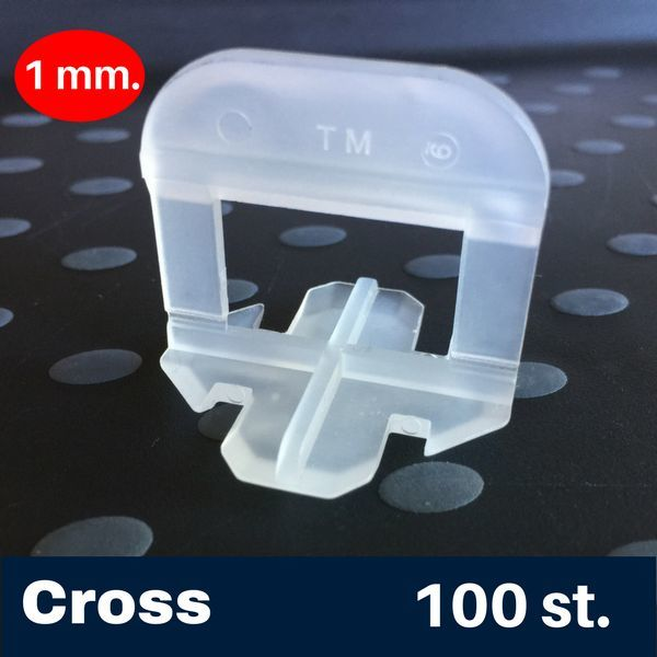 Tegel Levelling 1 mm. Cross Tegel Levelling Clips 100 st.