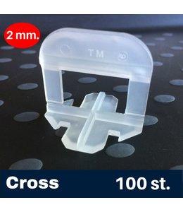 2 mm. Cross Tegel Levelling Clips 100 st.