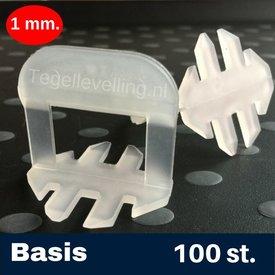 Tegel Levelling 1 mm. Basis. Tegel levelling Clips 100 st.