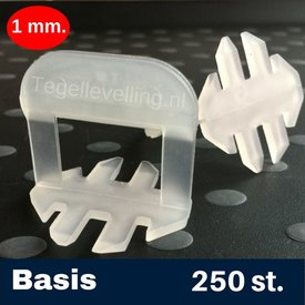 Tegel Levelling 1 mm. Basis. Tegel levelling Clips 250 st.