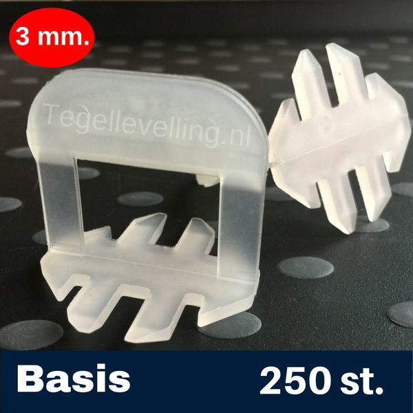 Tegel Levelling 3 mm. Basis. Tegel levelling Clips 250 st.