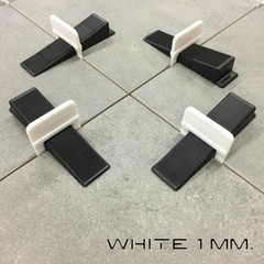 1 mm. Levelling clips White