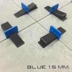Tegel levelling clips 1,5 mm. LEVLR. Blue