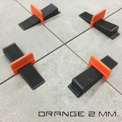 2 mm. Levelling clips Orange