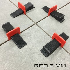 3 mm. Levelling Clips Red