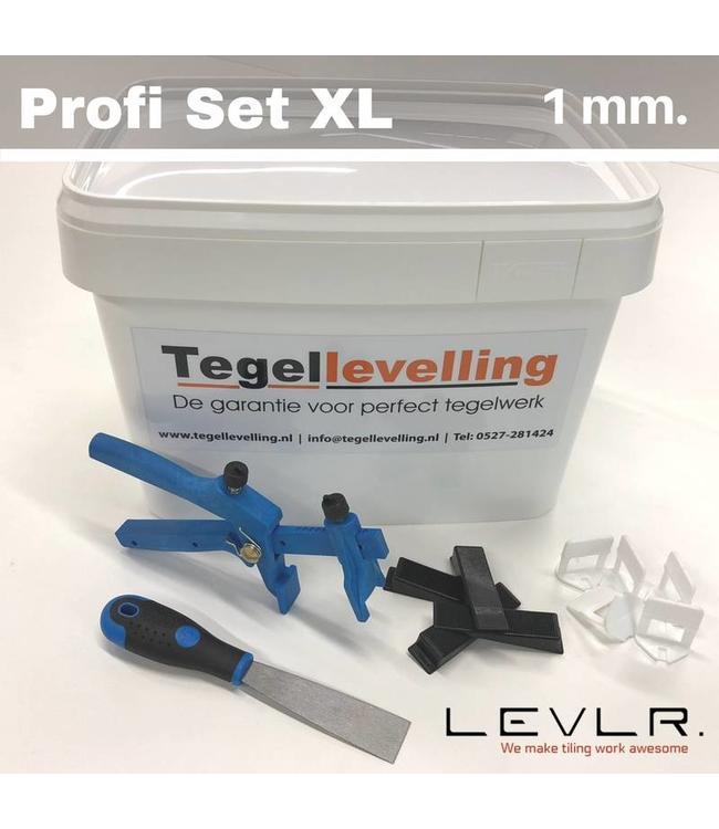 Levelling Starters kit 1 mm. Profi Set XL. Levlr. White