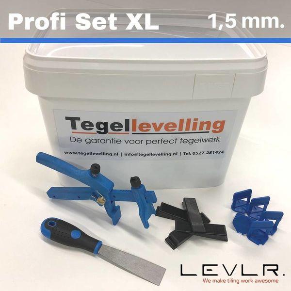 Levelling Starters kit 1,5 mm. Profi Set XL. Levlr. Blue