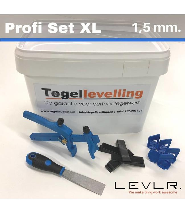 Levelling Starters kit 1,5 mm. Profi Set XL. Levlr. Blue