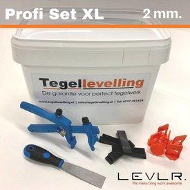 Levelling Starters kit 2 mm. Profi Set XL. Levlr.