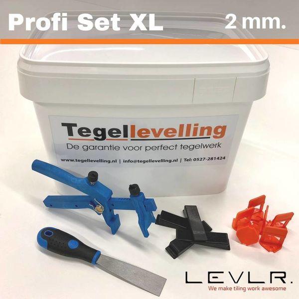 Levelling Starters kit 2 mm. Profi Set XL Levlr. Orange