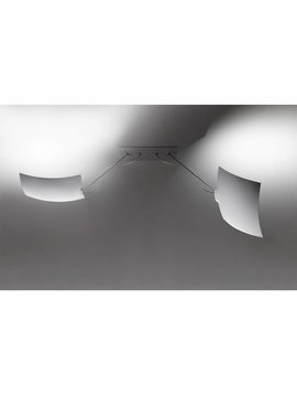 Ingo Maurer 2x18x18 wand/plafondlamp
