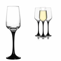 LAV Champagneglazen Black, 3-delige set