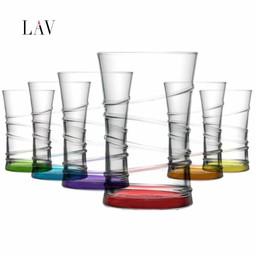 LAV Gekleurde Longdrinkglazen, 6-delige set