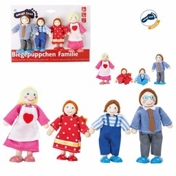 "Small Foot Poppenhuis Poppetjes ""FAMILIE"" 4-delige set"